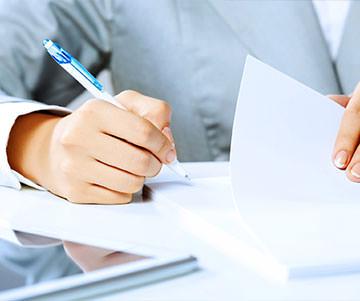 Оформление отчетных документов после услуги